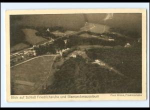 V1619/ Schloß Friedrichsruhe und Bismarckmauseleum Luftschiff Postkarte AK