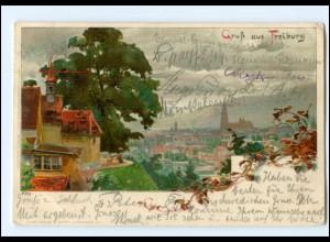 V1577/ Freiburg Litho Künstler AK KLEY 1905