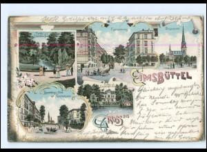 V1617/ Hamburg Gruß aus Eimsbüttel Litho Ak 1898