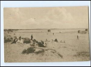V1581/ Hornbaek Strand Dänemark AK 1919