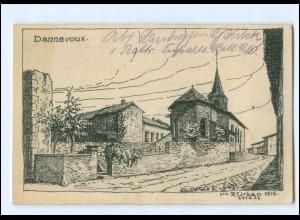 V1593/ Dannevoux Westlicher Kriegsschauplatz Frankreich AK 1915