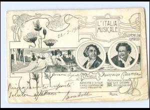 V1596/ L`Italia Musicale G. Paisielo + D. Cimarosa Jugendstil AK ca.1900