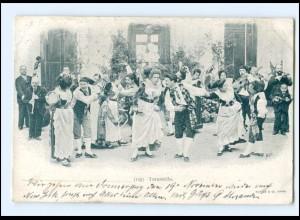 Y18695/ Tarantella Trachten Tanzen Italien AK 1900
