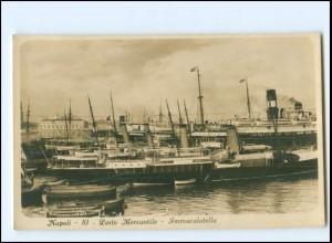 Y18696/ Napoli Porto Mercantile Hafen Dampfer Foto AK ca.1930