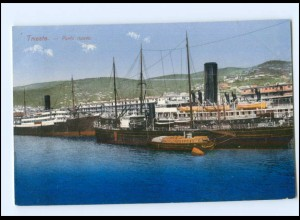 Y18697/ Trieste Porto Hafen Schiffe AK 1914