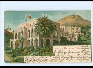 Y18698/ Capri Hotel Pagano Litho AK Italien 1910