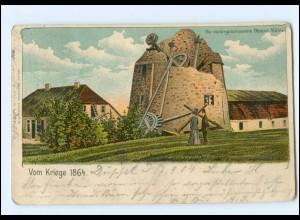 Y18748/ Die niedergeschossene Düppel Mühle Nordschleswig Litho AK 1904