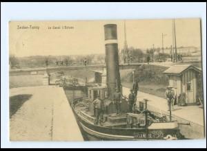 V1602/ Sedan-Torcy Le Canal L`Ecluse AK 1917 Frankreich -082-
