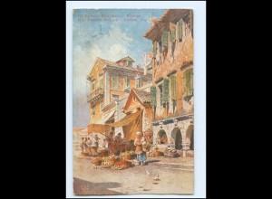 V1600/ Korfu Corfou Rue EugeneBulgare Griechenland AK 1914