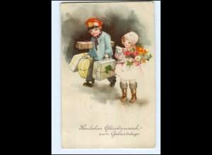 Y18711/ Geburtstag Kinder AK 1936 Verlag: HWB