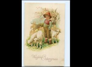 Y18720/ Ostern Junge und Schafe Litho AK Verlag: Amag ca.1925