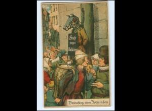 Y18721/ Bestrafung des Totenreißers MIttelalter Litho AK ca.1910