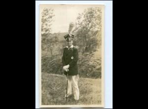 Y18722/ Junge in Uniform Foto AK ca.1930