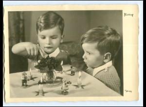 Y18749/ Jungen Kinder Popp Foto AK ca.1955