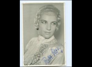 Y18740/ Ruth Lange Opernsängerin Autogramm Widmung Foto 1948