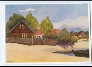 XX12719/ VDA AK Memelland Fischerhhäuser auf der Nehrung 1936