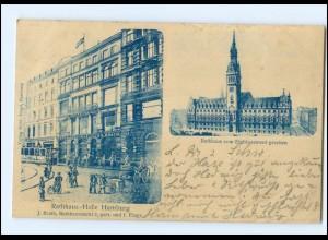 XX12621/ Hamburg Rathaus 1901 AK