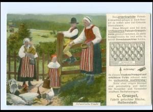 XX12712/ Schweden Trachten V. Graepel, Halberstadt AK Reklame 1924