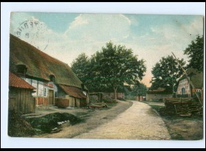 XX12711/ Dorfstraße in Egestorf Lüneburger Heide AK 1908