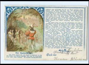 XX12708/ Der Rattenfänger von Hameln Litho AK 1899