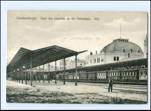 XX12786/ Constantinople Bahnhof Gare des Chemins de fer Orientaux AK Türkei