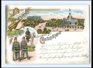 XX12787/ Souvenir de Constantinople Türkei Litho Ak Deutsche Post 1898