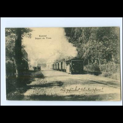 XX13011/ Kemmel Belgien Depart du Tram Dampfbahn AK 1916