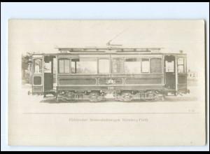 XX12991/ Elektrische Straßenbahn Nürnberg - Fürth Foto AK ca.1910