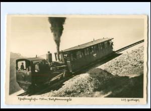 XX12915/ Schafbergbahn Zahnradbahn Salzkammergut Foto AK ca.1935
