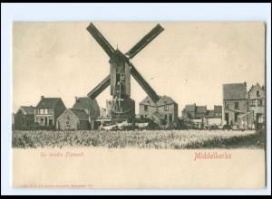 XX13603/ Middelkerke Un moulin Flamand Windmühle Belgien 1904