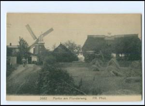 XX12999/ Graal-Müritz Flunderweg, Windmühle AK ca.1912