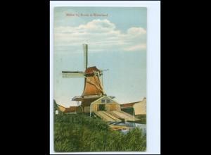 XX12930/ Windmühle Molen bij Broek in Waterland AK ca.1910