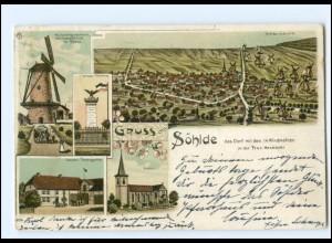 XX13063-3201/ Gruß aus Söhlde Windmühle Kreide Industrie Litho AK 1902