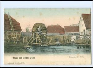 XX12926-183/ Bad Sülze Betriebsrad der Saline AK ca.1912