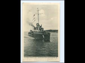 XX12832/ Boot G 8 der 1. Halbflottillie läuft in Swinemünde ein AK 1928 Marine