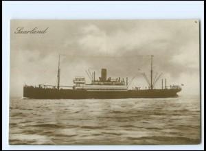 XX12836/ Dampfer Saarland Foto AK ca.1925