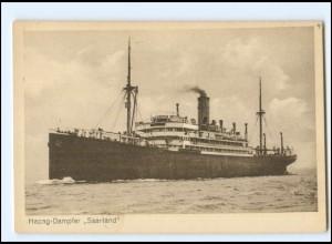 XX128377 Hapag-Dampfer Saarland AK ca.1912