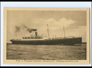 XX12842/ Dampfer Manschuria Hamburg-Amerika-Linie Foto AK ca.1912