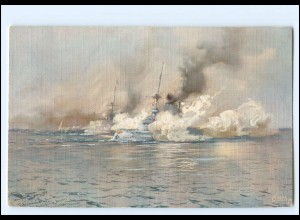 XX12899/ Tuck`s AK Marine Kriegsschiff - Gefechtsübungen H. Bohrdt WK1