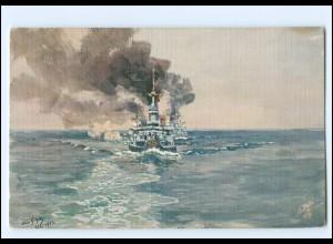 XX12897/ Tuck`s AK Marine Kriegsschiff - I.Geschwader - H. Bohrdt WK1