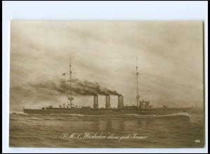 XX12895/ S.M.S. Wiesbaden Marine Kriegsschiff Foto AK ca.1915