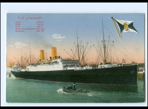 XX12883/ Dampfer Cincinnati HAPAG AK ca.1912