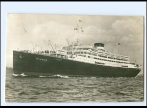 XX12849/ Dampfer M.V. Vulcania Coulich Line of Trieste Foto AK
