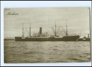 XX12855/ Dampfer Sachsen Foto AK ca.1925