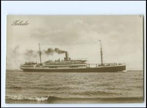 XX12857/ Dampfer Toledo Foto AK ca.1925