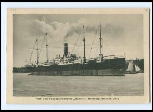 XX12881/ Dampfer Baden Hamburg-Amerika-Linie AK ca.1925