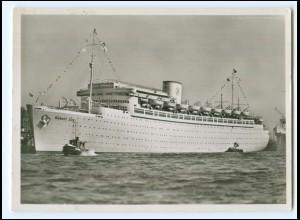 XX12872/ Dampfer Kdf Elektro Schiff Robert Ley Foto AK ca.1938