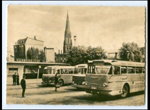 XX13001/ Schwerin Bus-Bahnhof Omnibusse Foto AK 1961