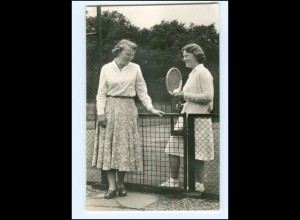 S2578/ Prinzessin Beatrix + Irene Palais Soestdijk 1957 Foto AK Tennis