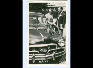 S2581/ Prinz Bernhard + Prinzessin Beatrix neuer Fiat 1400 1956 Foto AK